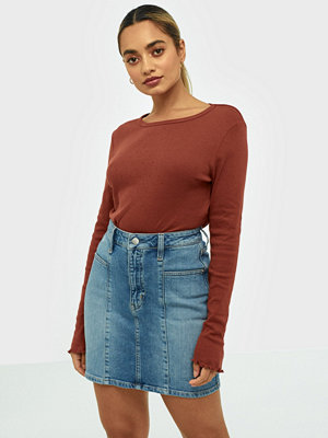 Calvin Klein Jeans Seamed High Rise Mini Skirt
