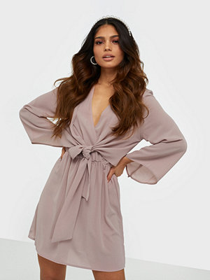 Ax Paris V Neck Long Sleeve Dress