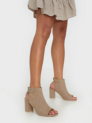 NLY Shoes Open Toe City Heel Beige