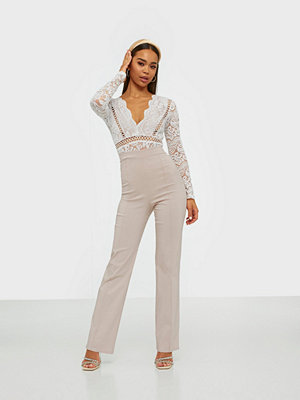 NLY One omönstrade byxor Straight High Waist Pant