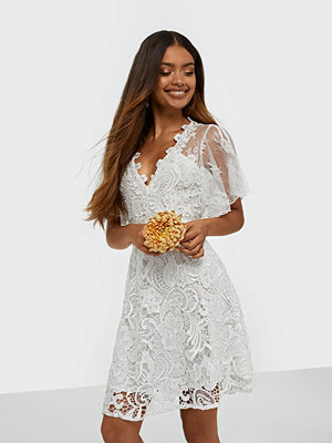 U Collection Short Sleeve Lace Mini Dress