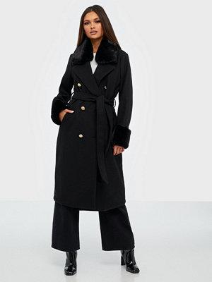 River Island Fur Cuff Robe Coat