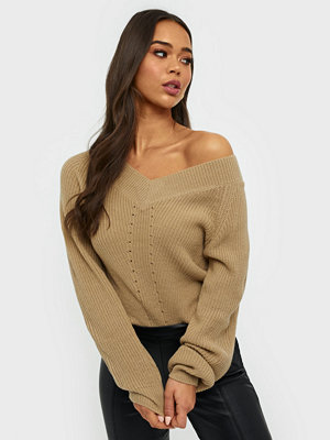 NLY Trend V Neck Shoulder Knit
