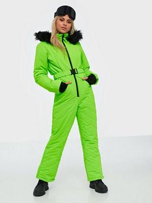 Missguided Ski Snow Suit Lime