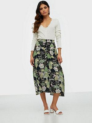Kjolar - Selected Femme Slfmarina Mw Midi Aop Skirt B