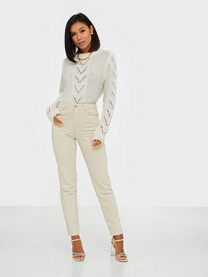 Selected Femme SLFLOU HW SLIM TAPERED JADE WHITE J