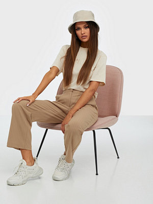 Pieces beige byxor Pcnibi Mw Ankle Pants