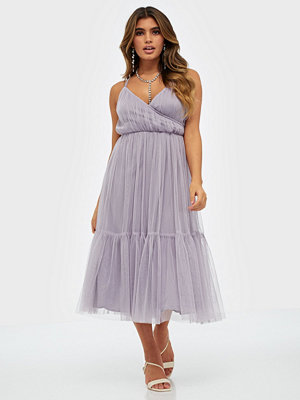 Anaya Cami Wrap Bodice Midi Dress