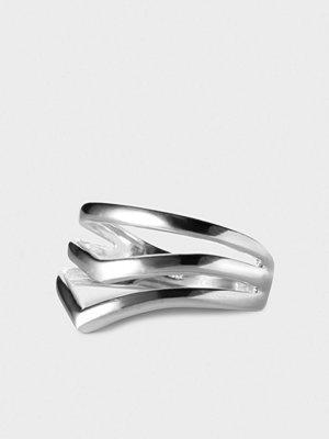 ENAMEL Copenhagen Ring, V-shape Silver