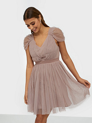 Anaya Contrast Tulle Mini Dress