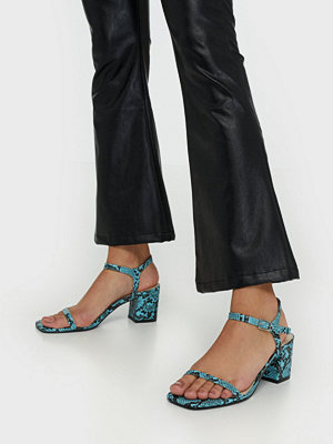 NLY Shoes Square Block Heel Sandal Snake