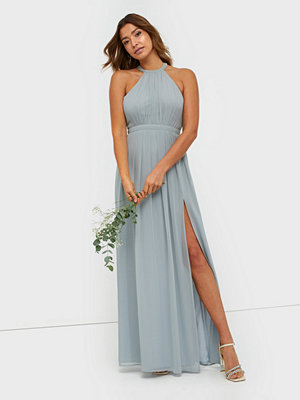 NLY Eve Halterneck Beaded Gown Dusty Blue