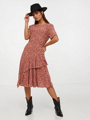 Calvin Klein Prt Ss Peplum Hem Dress