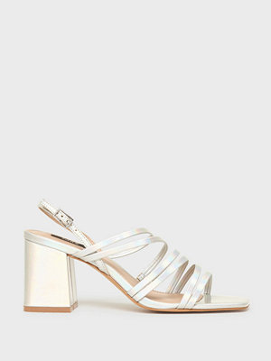 Pumps & klackskor - Only Onlamanda Mirror String Heeled Sand