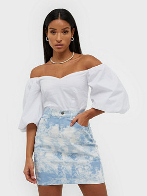 NLY Trend Mini Denim Skirt Mönstrad