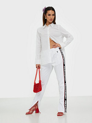 Polo Ralph Lauren byxor med tryck Striped-Trim Fleece Tracksuit Trouser