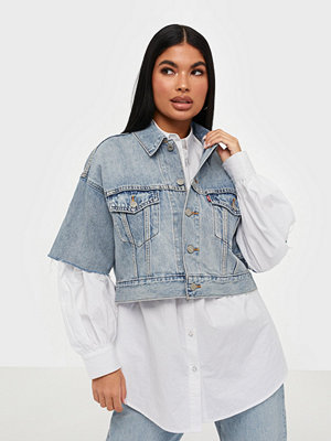 Jeansjackor - Levi's Ss Crop Dad Trucker Jeffrey