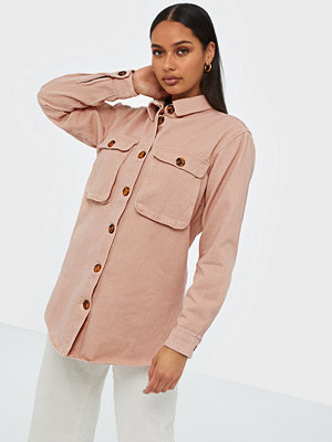 Missguided Denim Shirt with Tortoise Shell Buttons