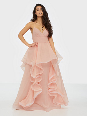 True Decadence High Low Flounce Maxi Dress