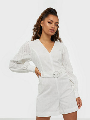 Glamorous Long Sleeve Belted Playsuit