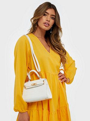 Missguided vit väska Mini Croc Handbag