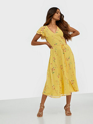 NLY Trend Double Flounce Midi Dress