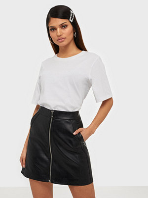 Only Onlglow Faux Leather Skirt Cc Otw Svart