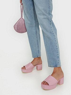 Pumps & klackskor - NLY Shoes Low Platform Mule Rosa