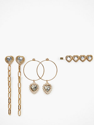 NLY Accessories örhängen Heart Earrings and Hair Pin Set
