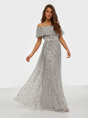 Maya Bardot Maxi Dress All Over Sequin