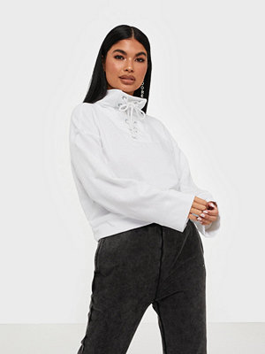Missguided High Neck Tie Detail Long Sleeve Sweat