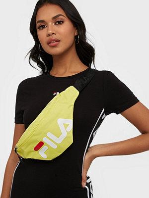 Fila gul axelväska med tryck Waist Bag Slim