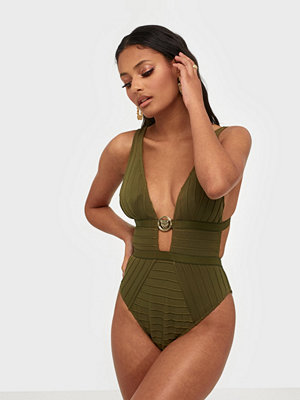 River Island Clip Fron Plunge Swimsuit