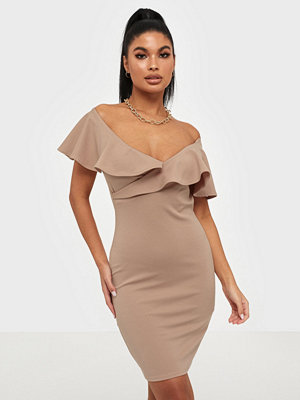 NLY One Wrap Flounce Neck Dress