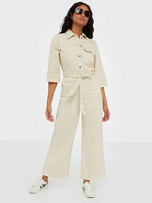 Jumpsuits & playsuits - Selected Femme SLFHELENA JADE WHITE DENIM JUMPSUIT