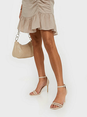 NLY Shoes Round Buckle Heel Sandal Beige