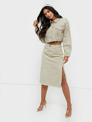 NLY Trend Slit Midi Denim Skirt