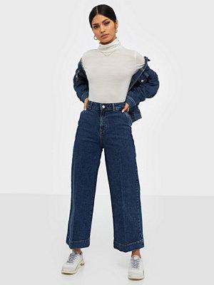 Jeans - Selected Femme Slfgene Hw Wide Crop Spruce Blue Je