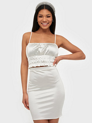 NLY One Satin Smock Crop Top