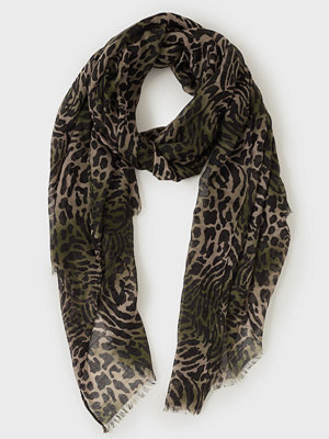 Only Onlwild Life Camo Weaved Scarf