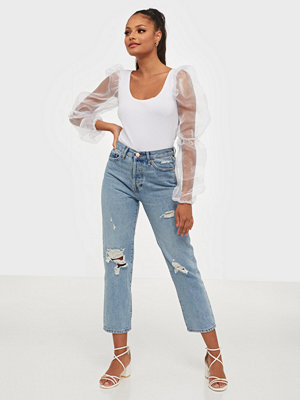 Only Onlfine High Rise Straight Leg Crop