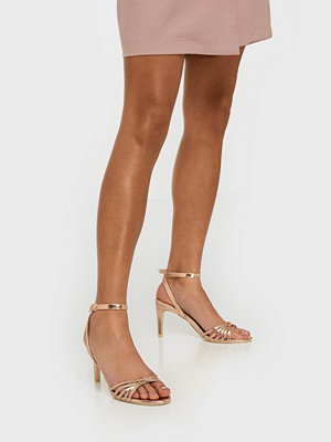 NLY Shoes Dancing Knot Heel Sandal Rose Gold