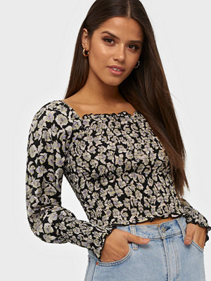 Only Onlrocky Rose Ls Cropped Smock Top