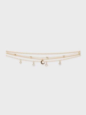 NLY Accessories smycke 4 pack Ankle Chains