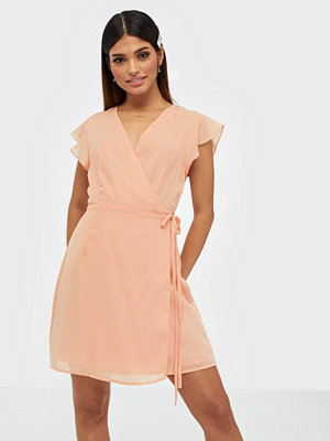 Glamorous Short Sleeve Wrap Mini Dress