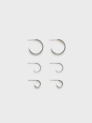 Pieces örhängen Pcabefa 3-Pack Creol Earrings