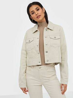 Vero Moda Vmmikky Ls Cropped Denim Jacket Clr