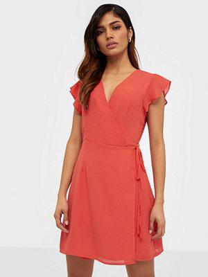 Glamorous Short Sleeve Wrap Mini Dress