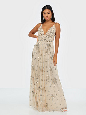 Maya Embellished Strappy Maxi Dress