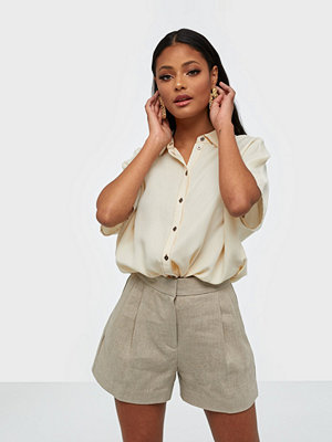 MICHAEL Michael Kors Linen Pleated Short
